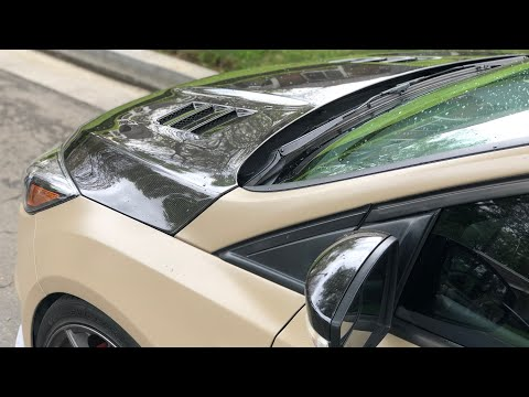 Seibon carbon fiber hood install