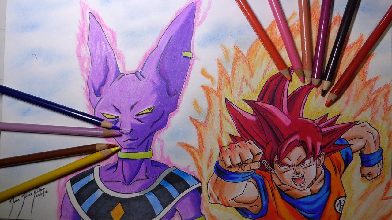 Drawing Goku Vs Bills Dibujando A Goku Vs Bills Dragon Ball Supernito Ochoa