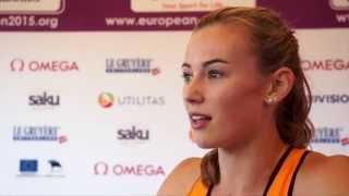 Nadine Visser (NED) after winning Bronze in the 100mH