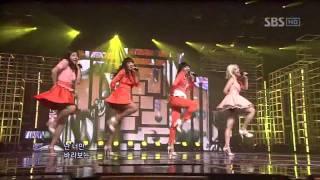 Sistar - Shady Girl (씨스타 - 가식걸) @ SBS Inkigayo 인기가요 101003