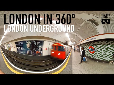 360º Video of London Underground tube - oxford circus - shot on Kodak SP360 4K dual cam