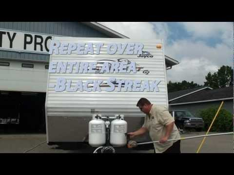 Washing Rv Exterior Removing Black Streaks From Rv