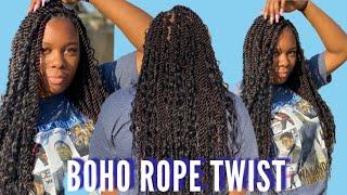 Boho Rope Twist Start To Finish