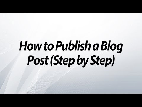 How to Create and Publish a Blog Using Your AIM Global Project Website