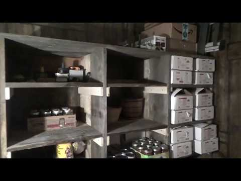 Finishing Storage Shelves For Survival Preps And Food Storage