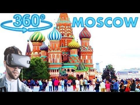Панорамное Видео 360 VR 4K для очков виртуальной реальности. Как я вижу Москву