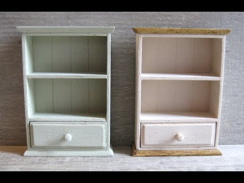 1/12th Scale Wall Shelf with Drawer Tutorial