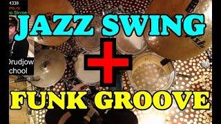Джазовый Свинг в Фанковых Грувах | Jazz Swing Funk Groove | Уроки Ударных в Тольятти