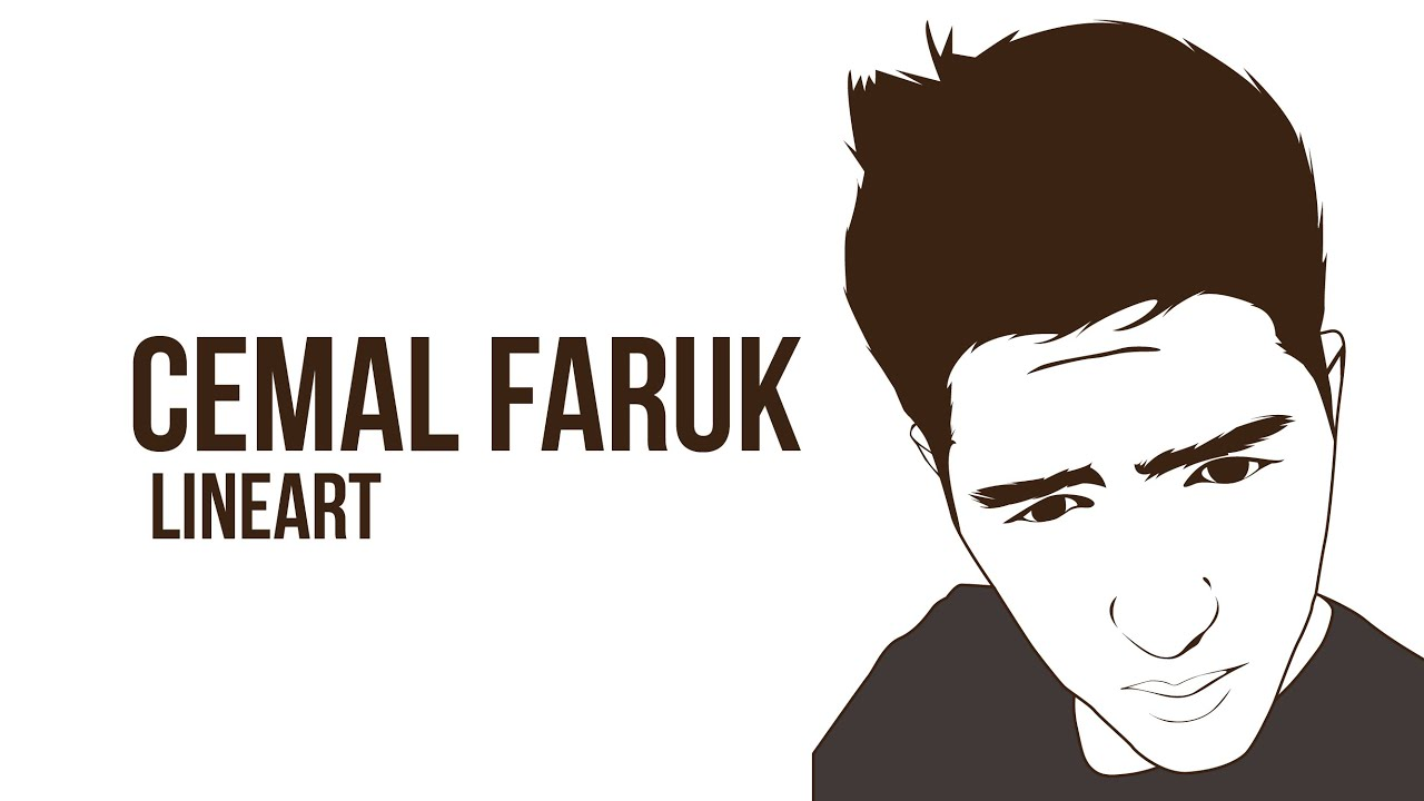 Line Art Portrait : Cemal faruk tutorial vector portraits line art adobe