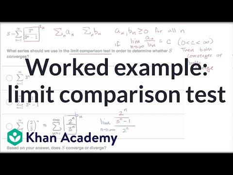 Limit Comparison Test Example
