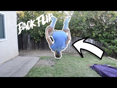 HOW TO DO A BACKFLIP ON FLAT GROUND!!! | Back Flip Tutorial For Beginners