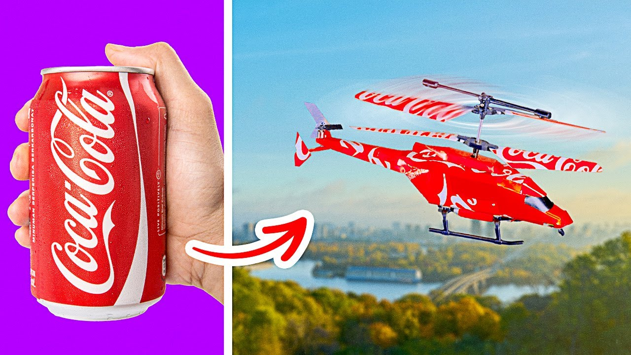 DIY HELICOPTER FROM COLA CAN II And 10 Other Genius Crafts for Adults and Their Kids