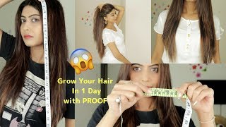 How To Grow Your Hair In 1 Week With *PROOF* | Rinkal Soni