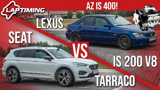 Az IS 400 - Lexus IS 200 V8 vs. Seat Tarraco (Laptiming ep.163)