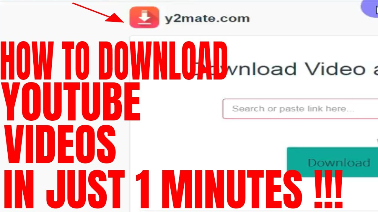 Youtube video download y2mate | How to Download Youtube Videos to