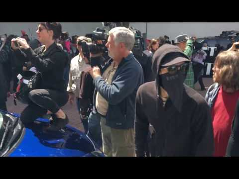 Thumbnail: Political violence at Berkeley free speech rally, April 15