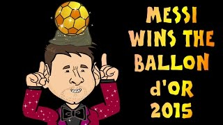 LIONEL MESSI Wins The Ballon d'Or 2015! (Awards Highlights Part 1)