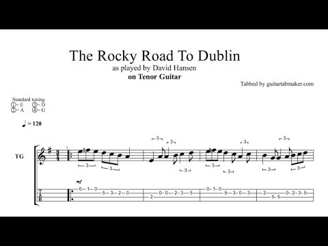 The Rocky Road To Dublin Tenor Guitar Tab Free Download In Pdf