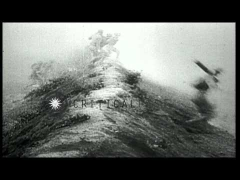 United States soldiers charge towards enemy in European Theater during World War ...HD Stock Footage
