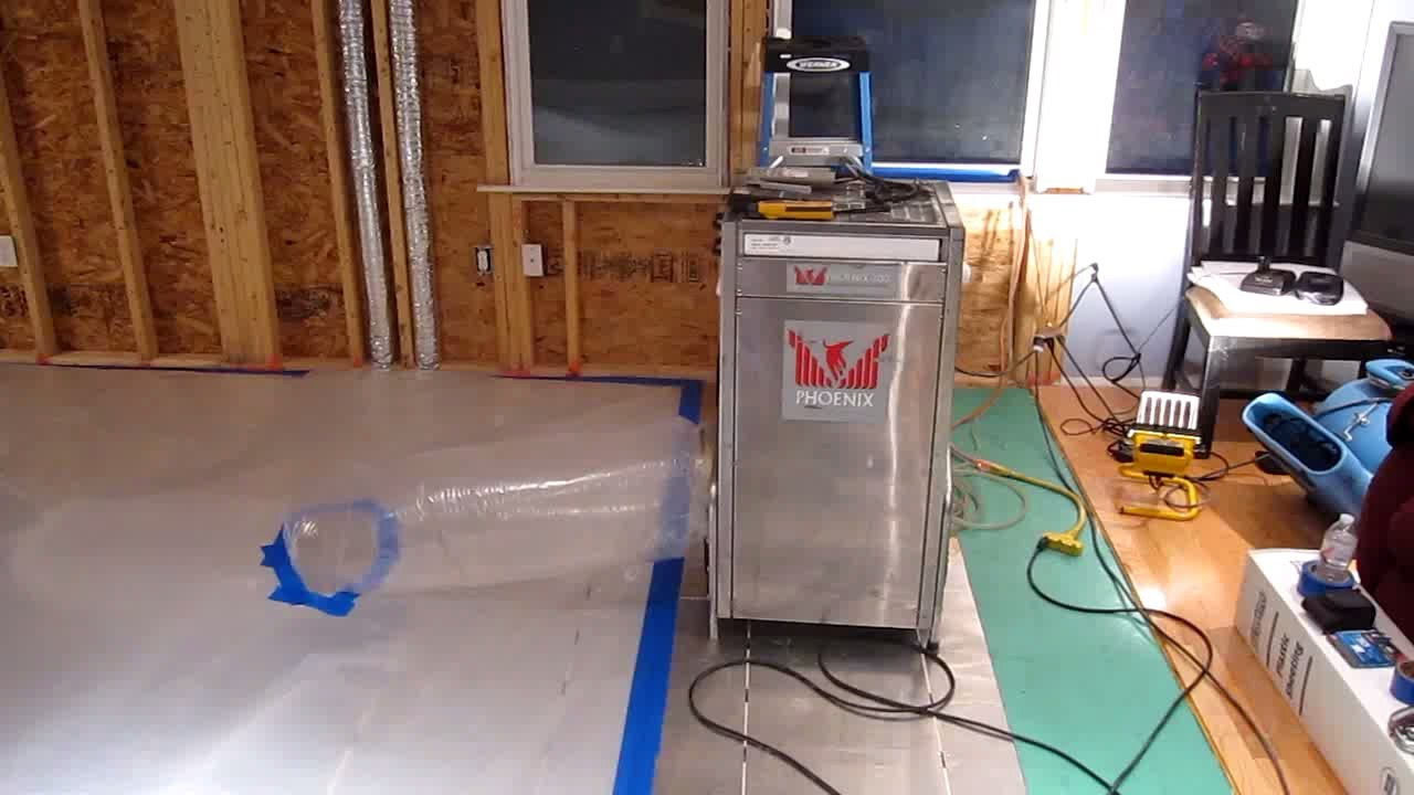 Drying Water Damaged Radiant Wood Floor Massachusetts