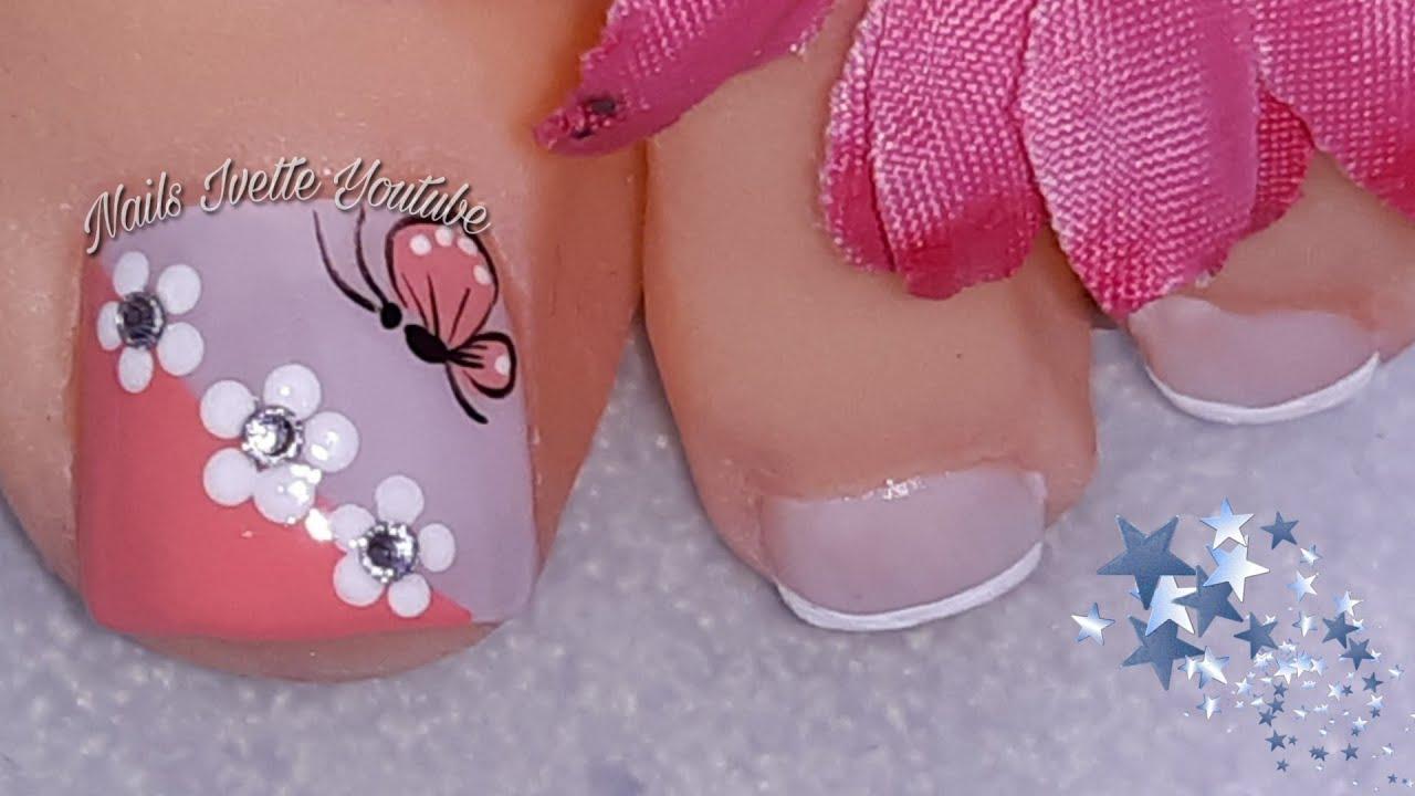 Decoración de uñas PIE sencillas y elegantes, fácil de ...