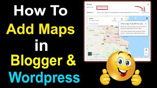 How to Add Google Maps With Location On Blogger Site   Add Maps on Blogs Pages