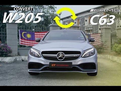 9a00650104d2d MERCEDES BENZ W205 CONVERT TO C63AMG Body kit - YouTube
