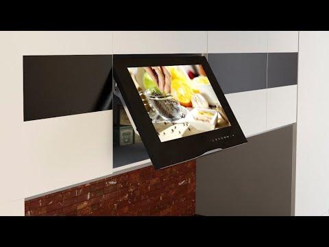 Новый компактный встраиваемый в кухонный шкаф телевизор AVS220W