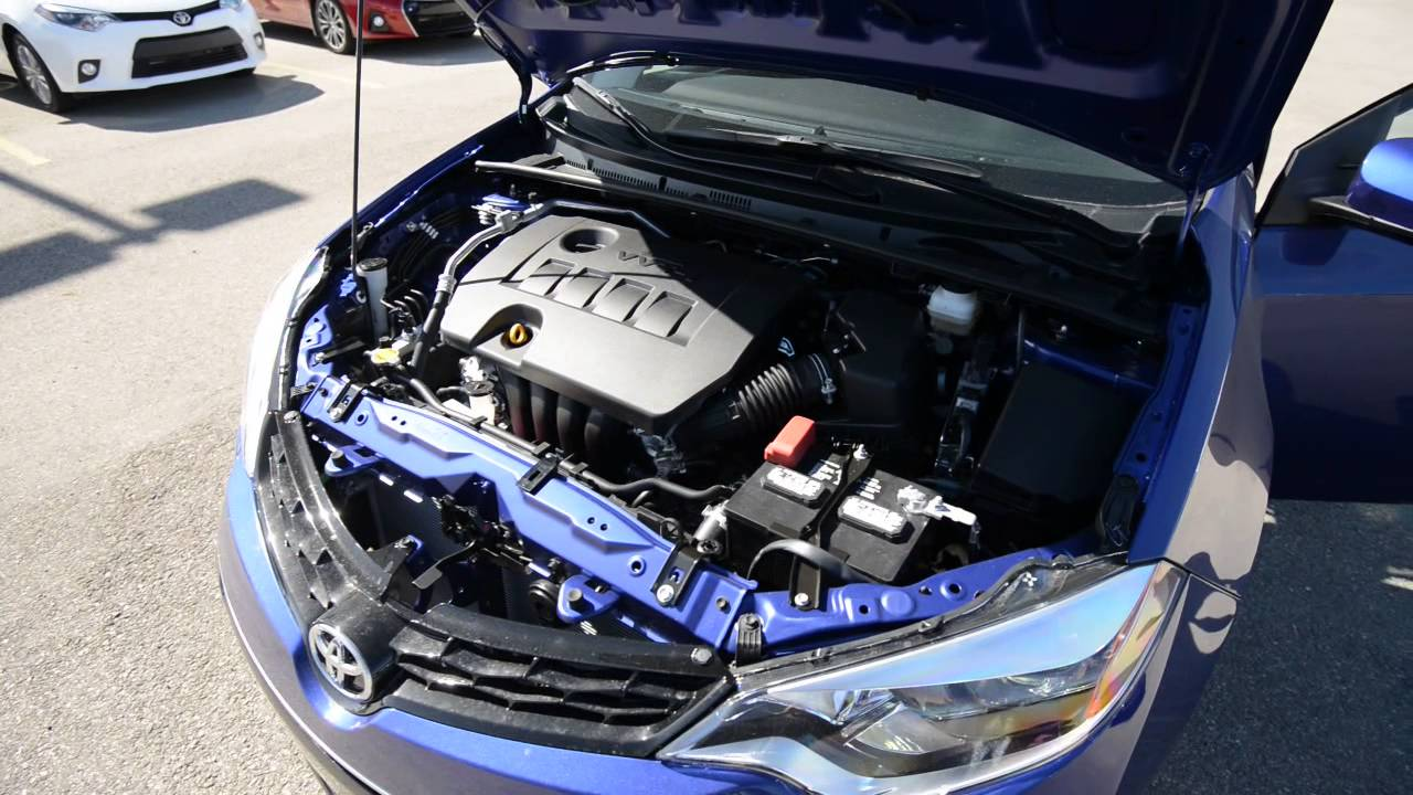 2015 Corolla S Engine Bay Youtube