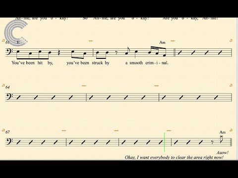 Cello - Smooth Criminal - Michael Jackson - Sheet Music, Chords, & Vocals