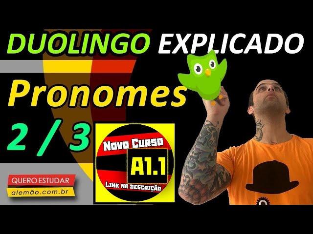 #32 - Curso de alemão gratuito para iniciantes - Pronomes 2/3 - Duolingo Explicado -