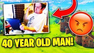 This 40 Year Old Man RAGES While Playing Fortnite (EXTREME) | Fortnite Battle Royale