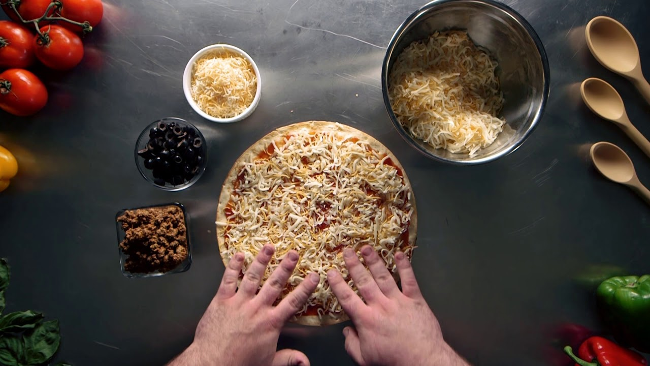 Make the Ultimate Quesadilla Pizza Using Ultra Thin Pizza Crusts