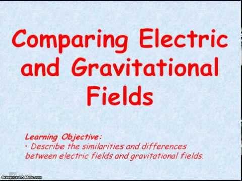 EM 04 - Electric Fields 4 (Comparison with Gravitational Fields)
