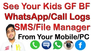 How to See ||Kids ||BF|| GF|| Friend's WhatsApp|| Gallery||SMS||Call Logs||From ||Mobile||PC|| Hindi | HiTech Hindi Technology