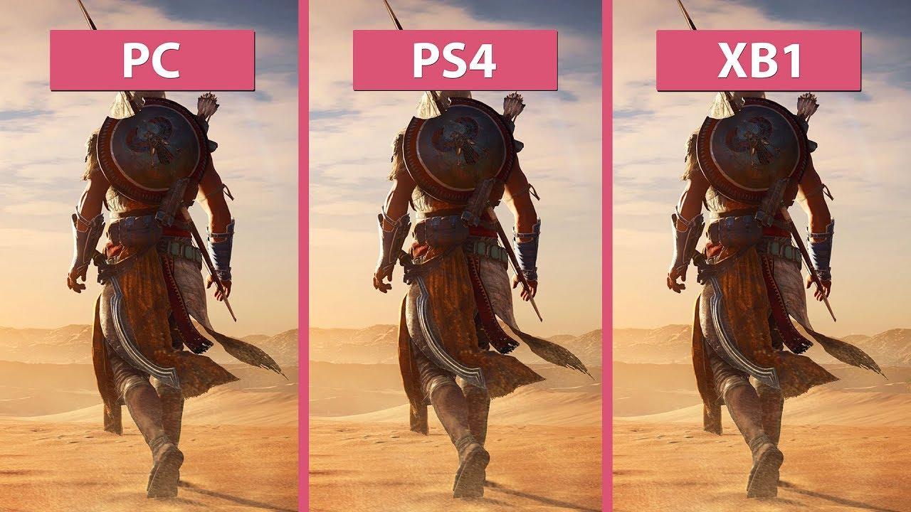 Assassins' Creed Origins – PC vs. PS4 vs. Xbox One ...