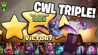 UNLOCKING WARDENS ABILITY AND BAT SPELL! + CWL 3 STAR ATTACK LIVE! - Clash of Clans