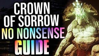 DESTINY 2 - CROWN OF SORROW - NO NONSENSE GUIDE