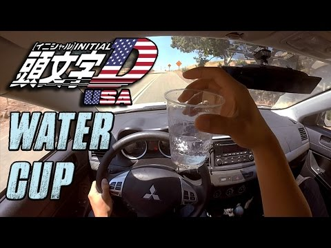 🚰Real Life Initial D: Tofu Delivery / Water Cup Challenge