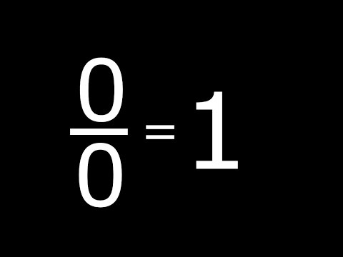 0 by 0 = 1 | Zero By Zero is Equal To One | 0 / 0 = 1 |  PROVED | Maths Rule Fails |
