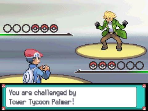 Pokémon Platinum - Tower Tycoon Palmer (Gold Print battle)