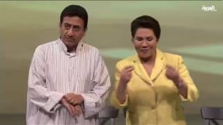 مشهد مسرحي لناصر القصبي وسعاد عبد الله