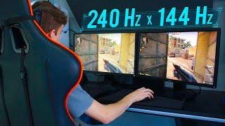 Monitor 240Hz vs Monitor 144Hz  | QUEM PERCEBE A DIFERENÇA?