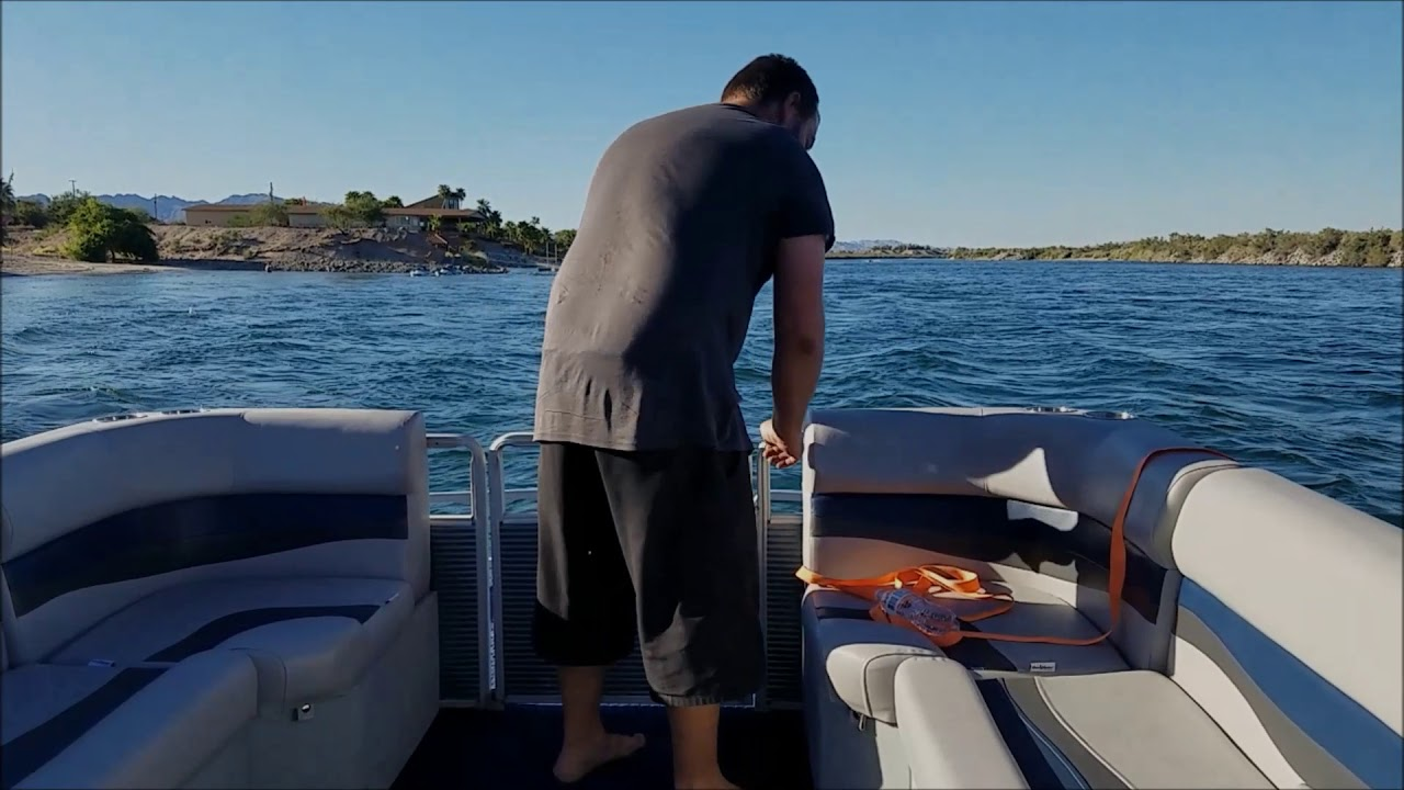 Craigslist Pontoon Boat: Back In The Water - YouTube