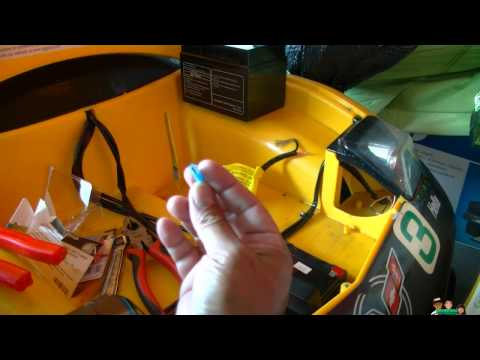 Ride On Kids Yellow Race Car Corvette Battery Mod Replacement