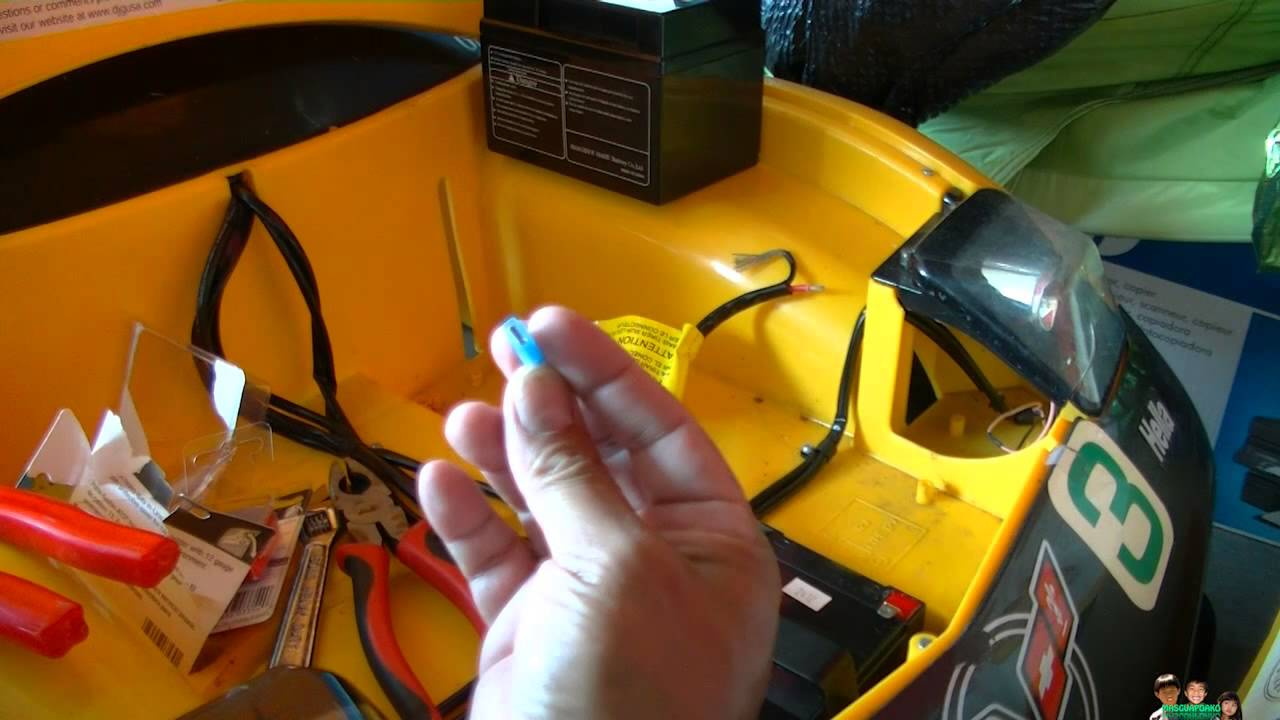 Ride On Kids Yellow Race Car Corvette Battery Mod Replacement Youtube Wiring Harness Diagram