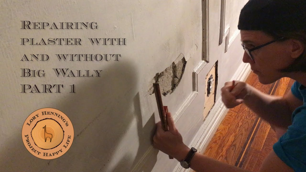 Plaster Repair Two Methods To Fix And Lath Part 1