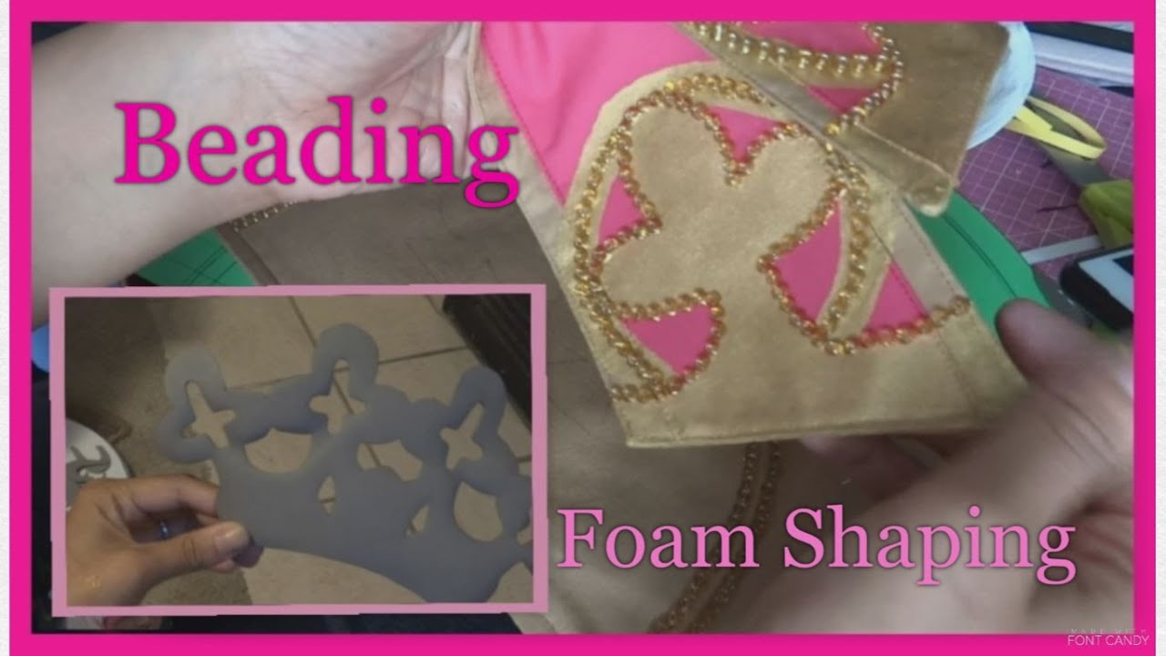 "(4) Creating Princess Apricot: Panels, ""Beading"", Foam Shaping, & Belt"