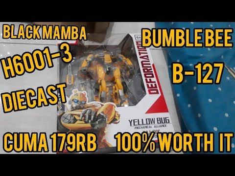 UNBOXING TRANSFORMERS INDONESIA - BUMBLEBEE B-127 BmB Black Mamba H6001-3