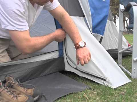 Guide Gear Elkhorn 18x10 3-room Dome Tent & Guide Gear Elkhorn 18x10 3-room Dome Tent - YouTube